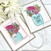 Flower Bouquet Jar Cards