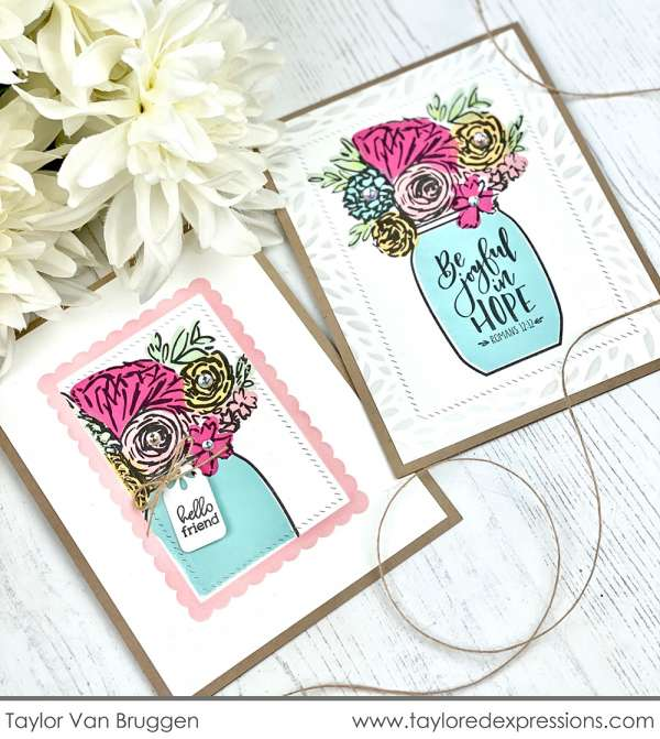 Flower Bouquet Jar Cards