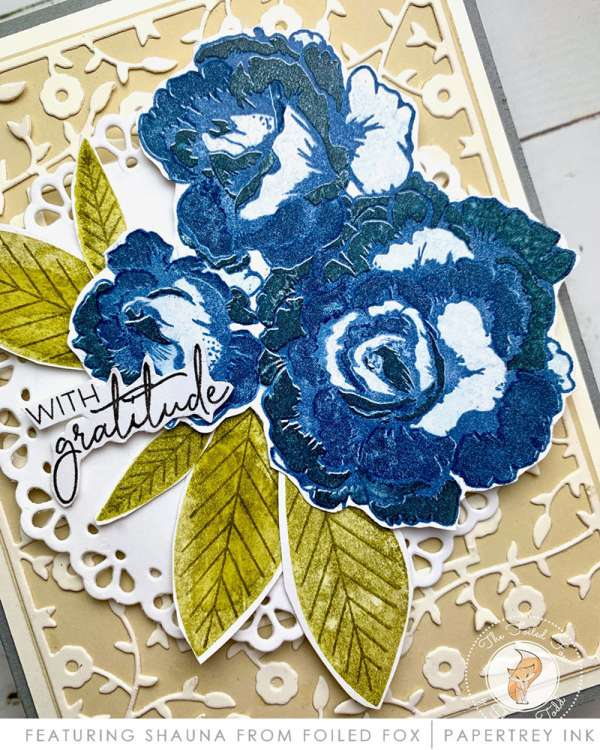 Blue Roses Thank You Card