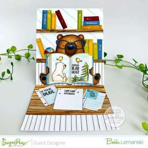 Book Reading Easel Card