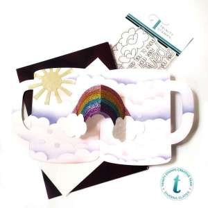 Coffee and Rainbows Pop Up Card