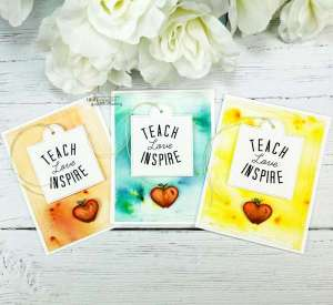Teacher Cards w/ Watercolor Backgrounds