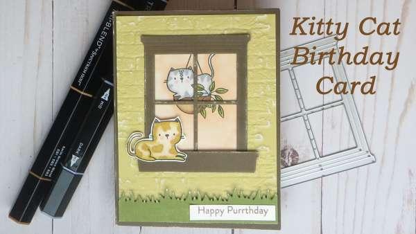 Kitty Cat Birthday Cards