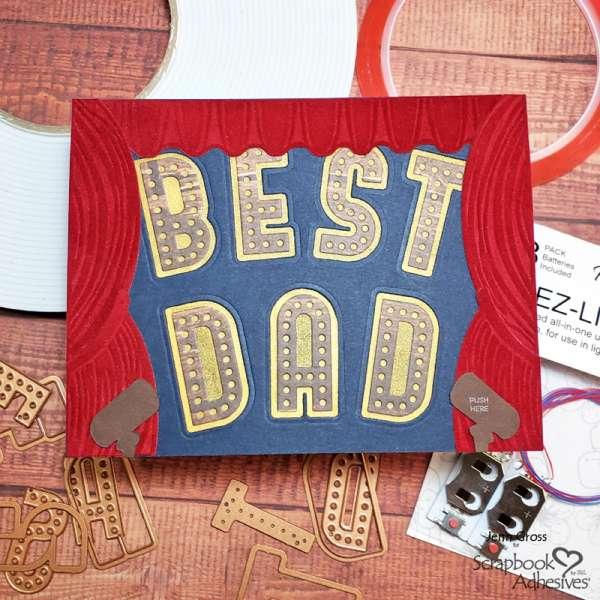Best Dad Light Up Card Tutorial