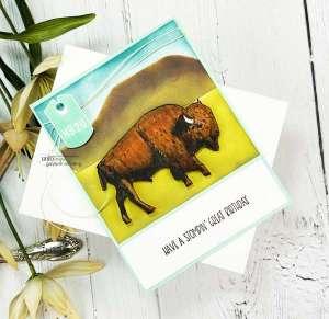 Masculine Buffalo Scene Card Tutorial