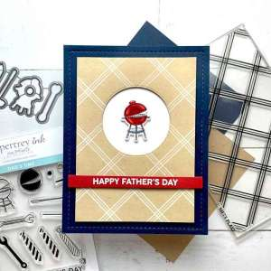 BBQ Grill Father's Day Card Tutorial