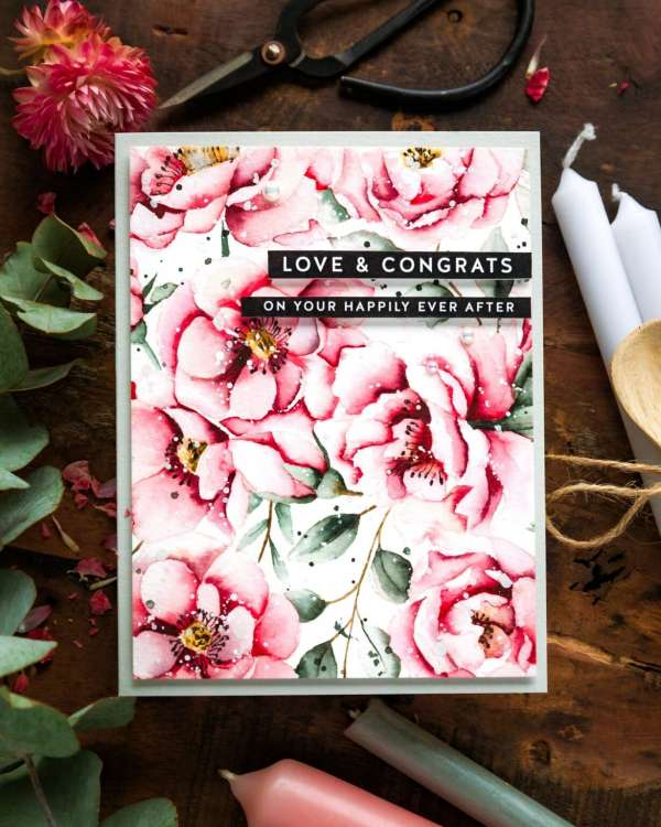 How to Watercolor Realistic Peony Flowers