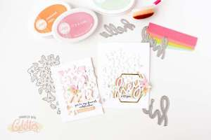 How to Create Rainbow Sentiments for Cards