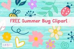 FREE Summer Bug Clip Art