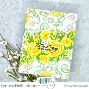 Stenciled Floral Card