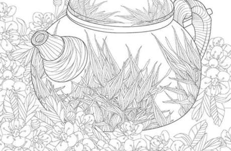 6 Japanese Harmony Coloring Pages