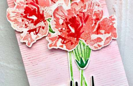 Pink Carnation Card using Layering Stamps