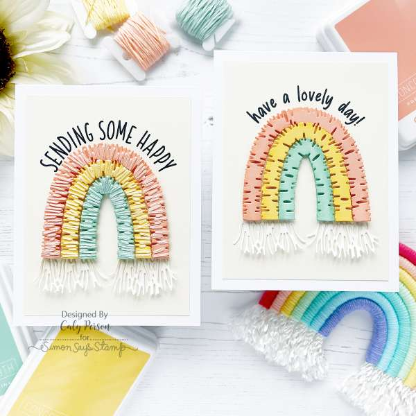 String Wrapped Rainbow Cards