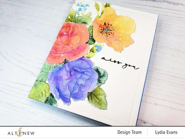Dry Embossed and Water Colored Card