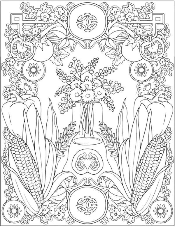Farmers Market Coloring Pages