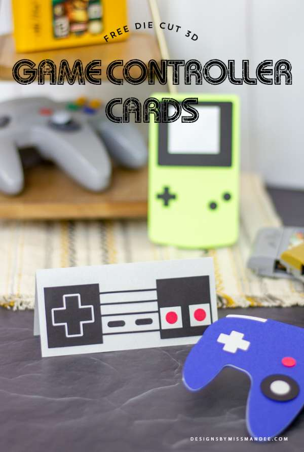 Game Controller Cards - Free Cut Files