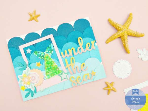 Mermaid Card with Small Dies