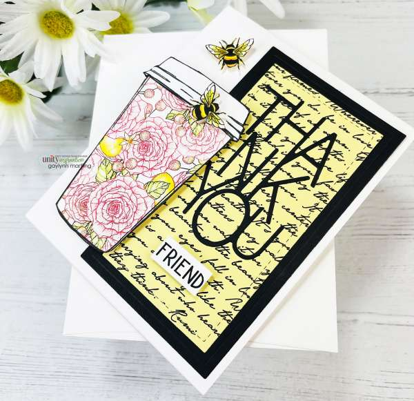 Coffee Cup Card with Paper Piecing