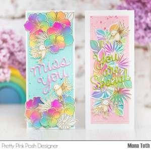 Ink Blended Floral Card