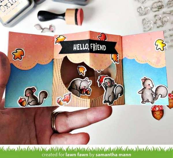 Autumn Squirrels Pop Up Card