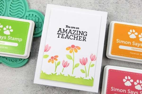 Clean and Simple Teacher Card