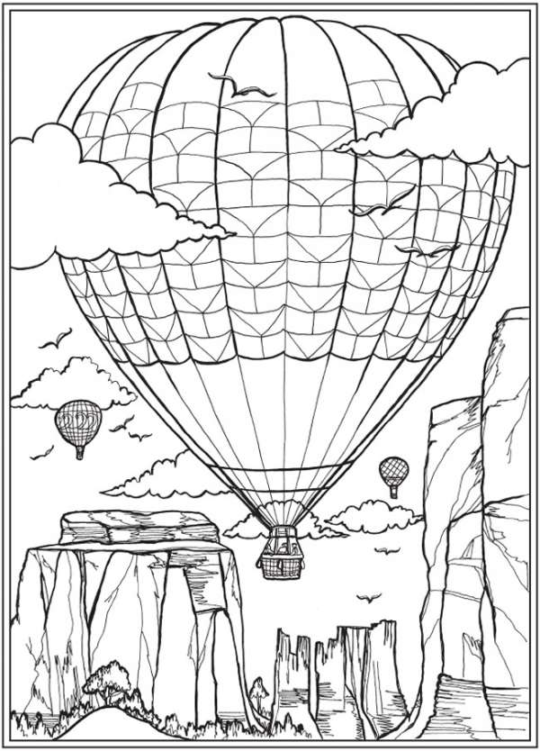 6 FREE Travel Themed Coloring Pages