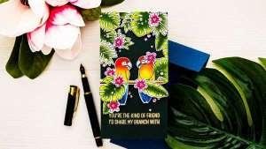 Tropical Birds Card with Copics