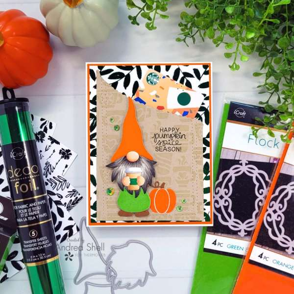 Autumn Coffee Gnome Gift Card Holder