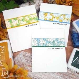 Easy Autumn Border Cards