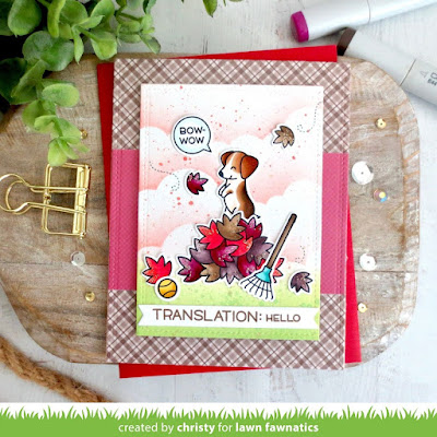 Fall Leaves Puppy Dog Card