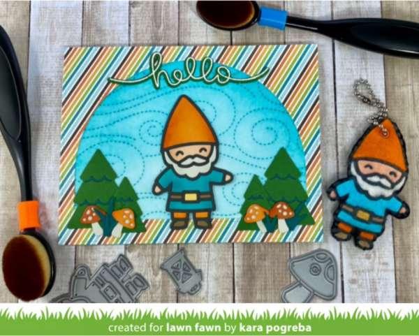 Gnome Card with Felt Key Chain