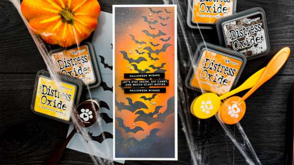 Slimline Halloween Bats Card