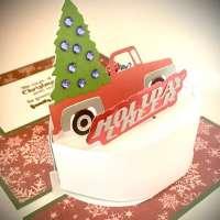 Christmas Tree Truck Pop Up Card