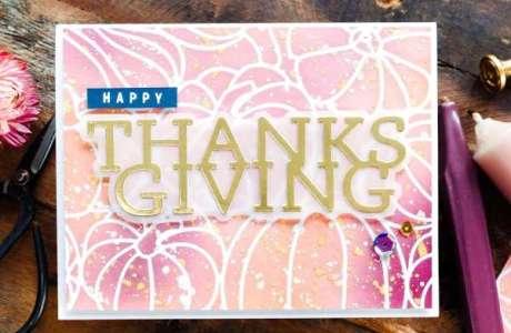 Pink Pumpkins Thanksgiving Card