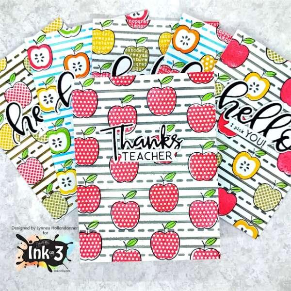 Teacher Gift- Set of Handmade Cards