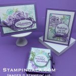 Beautiful Friendship stamp set, Detailed Bands Dies, Birthday Card, Facebook live, Masking Technique and Faux Silk Technique