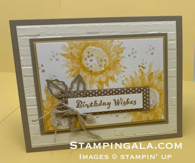 Birthday Card, Painted Harvest stamp set, two step stamping, fall