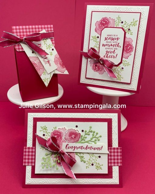 First Frost, Frosted Bouquet, Christmas Cards, Treat Holder