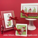 Learn how to create these Christmas projects using #Elfie stamp set from Stampin