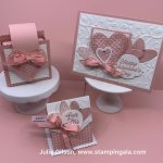 Valentine card & treat holders using Meant to Be & Heartfelt stamp sets. #Stampin