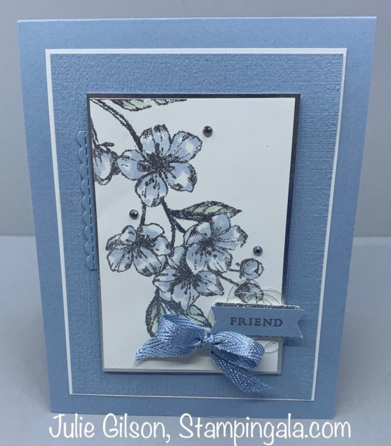 Create beautiful cards and a 3D treat holder using the Forever Blossoms Stamp Set and Cherry Blossoms Dies.  #Stampin' Up, #Stampin' Gala, #Birthday, #3D, #Mini Purse