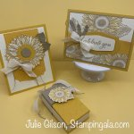 Celebrate Sunflowers projects for FB Live, #Stampin