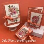Greeting cards & Tea Bag holder using Stampin