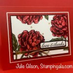 Thank you card using the Prized Peony Bundle from Stampin