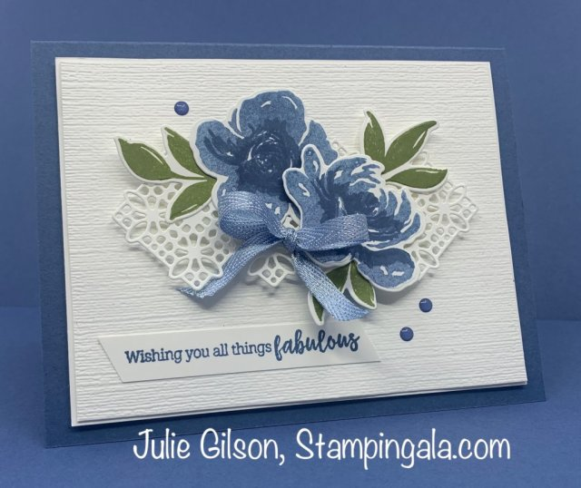 Birthday card created with the All Things Fabulous Bundle by Stampin' Up!!  #Stampin' Gala, #Handmade Cards, #Julie Gilson