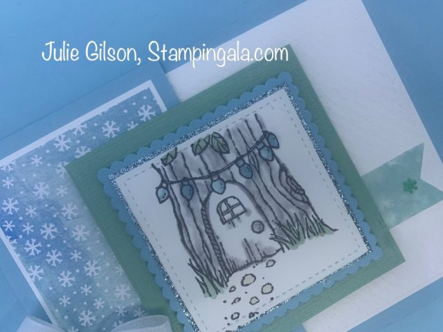 Gnome for the Holidays Christmas Cards. #Stampin' Up, #Stampin' Gala, #Julie Gilson, #Fun Fold Cards, #August-December 2020 Stampin' Up Mini Catalog