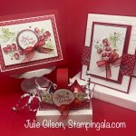 Christmas cards and treat holder created with the Forever Fern stamp set. #Stampin