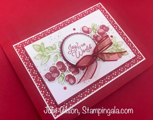 Christmas cards and treat holder created with the Forever Fern stamp set.  #Stampin' Up, #Julie Gilson, #Handmade cards, #Party Favors