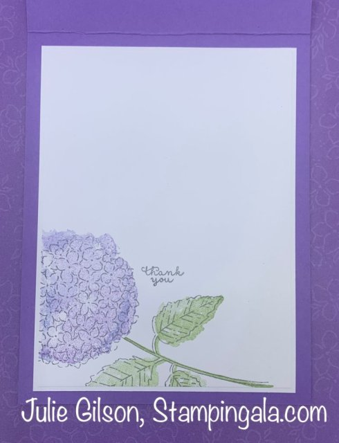 Greeting Cards & Desk Calendar created with Stampin' Up's Hydrangea Haven Bundle. #Stampin' Up, #Stampin' Gala, #Hydrangea Hill Suite, #Thinking of You
