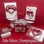 Valentine cards and treat holders using Stampin